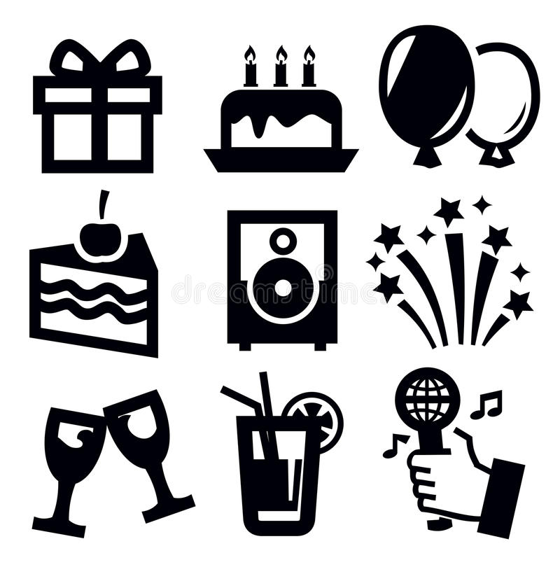 Birthday icon royalty free illustration