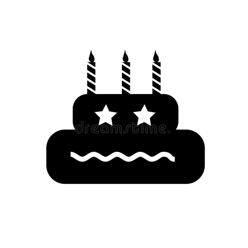 Birthday icon vector sign and symbol isolated on white background, Birthday logo concept royalty free illustration