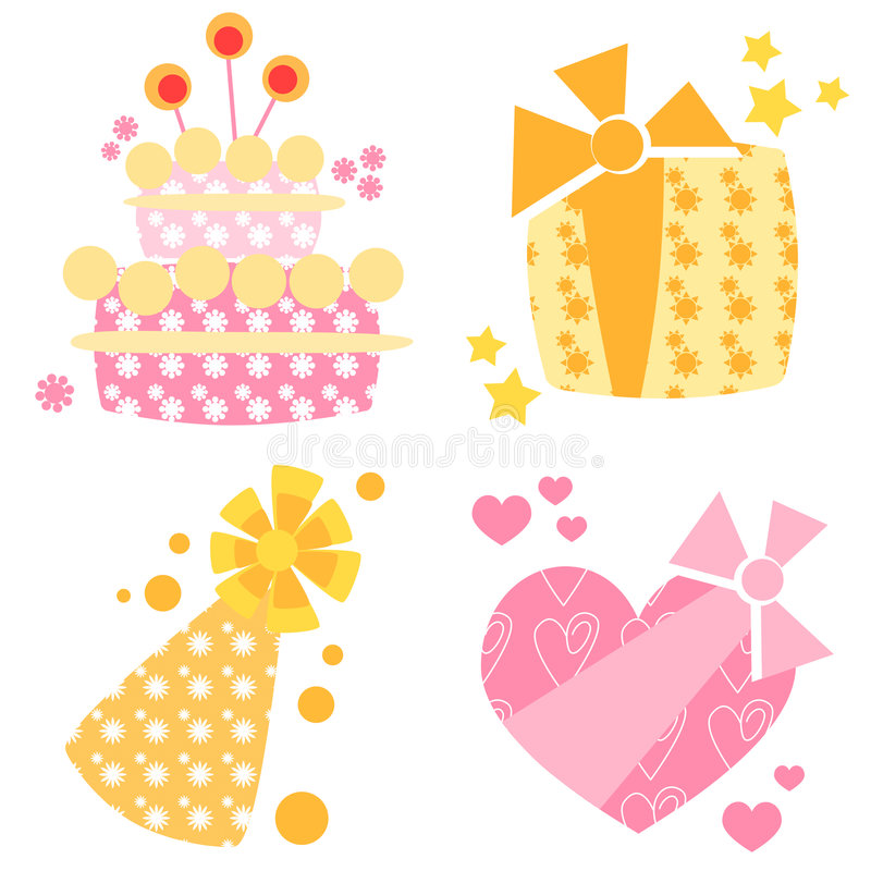 Free Birthday Icons Stock Images - 8489774