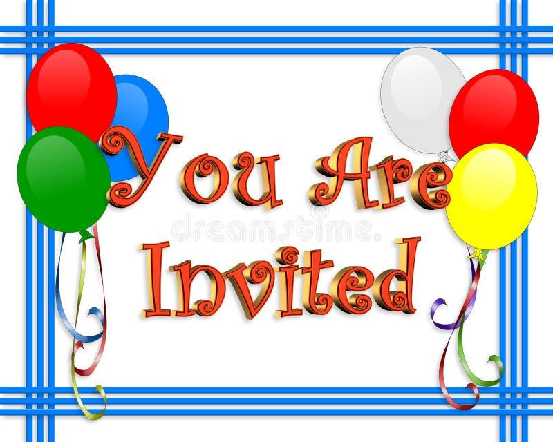 Birthday Invitation Balloons Border Stock Illustration ...
