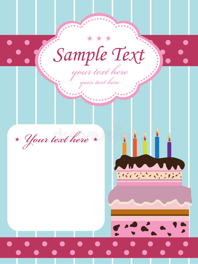 Download Birthday Invitation With Cake Stock Vector - Illustration of celebrate, chocolate: 18726828