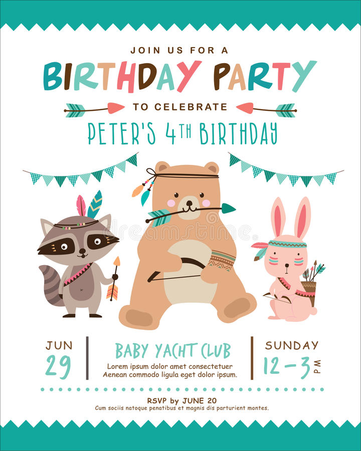 Birthday invitation card stock vector illustration of party 74364112 download birthday invitation card stock vector illustration of party 74364112 filmwisefo Image collections