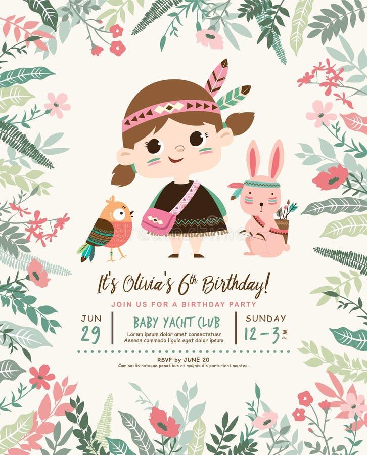 Birthday invitation card stock vector. Illustration of celebration ...