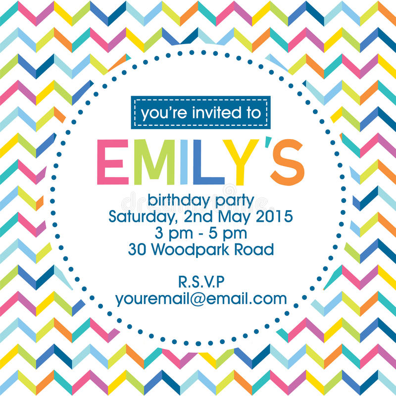 Birthday invitation royalty free stock images