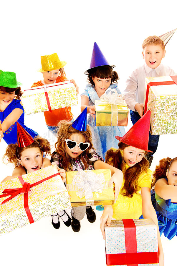 Download Birthday kids stock photo. Image of faces, gathered, beautiful - 42142660