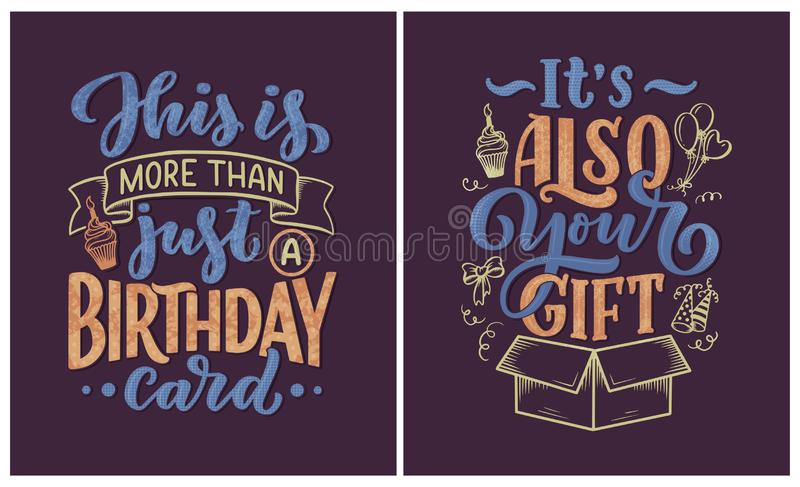 Birthday Lettering In Retro Style Anniversary Invitation