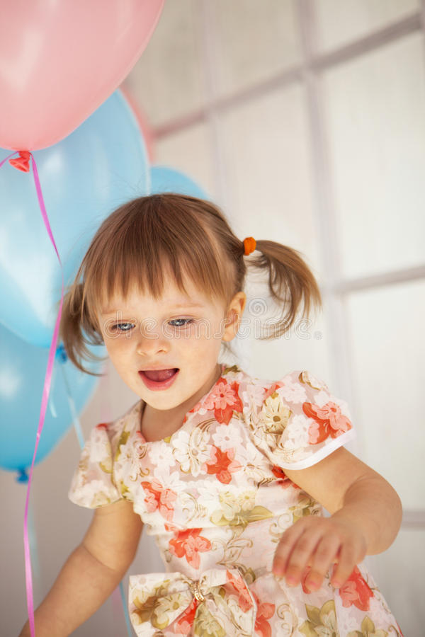 Birthday of little girl royalty free stock photography