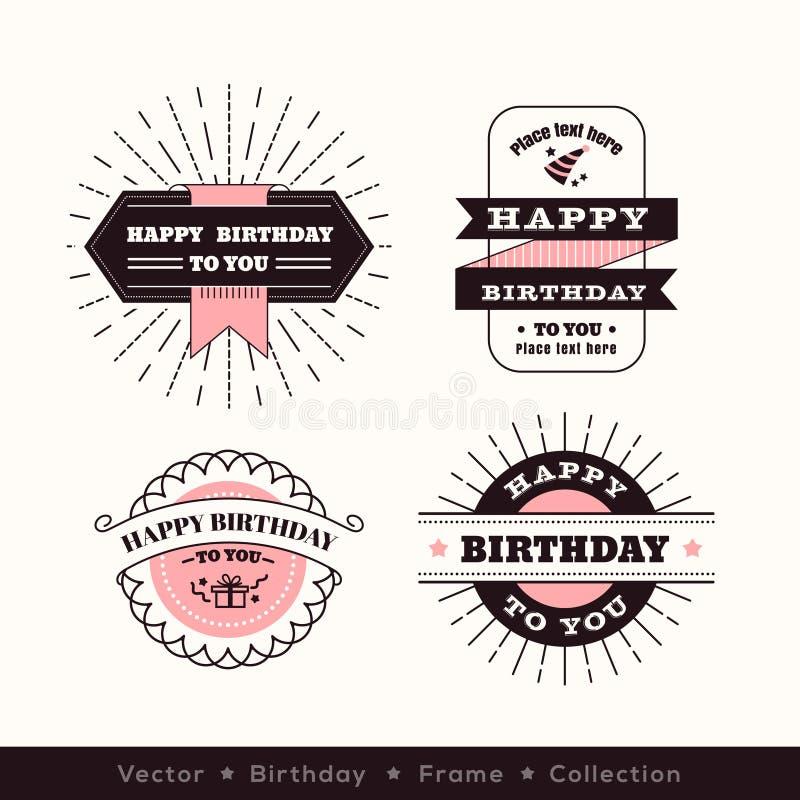 Birthday logo frame design element royalty free illustration