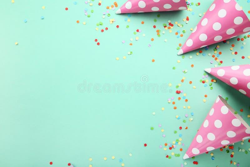 Birthday paper caps royalty free stock photo