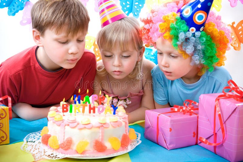 Download Birthday party stock photo. Image of party, cake, candle - 12786690