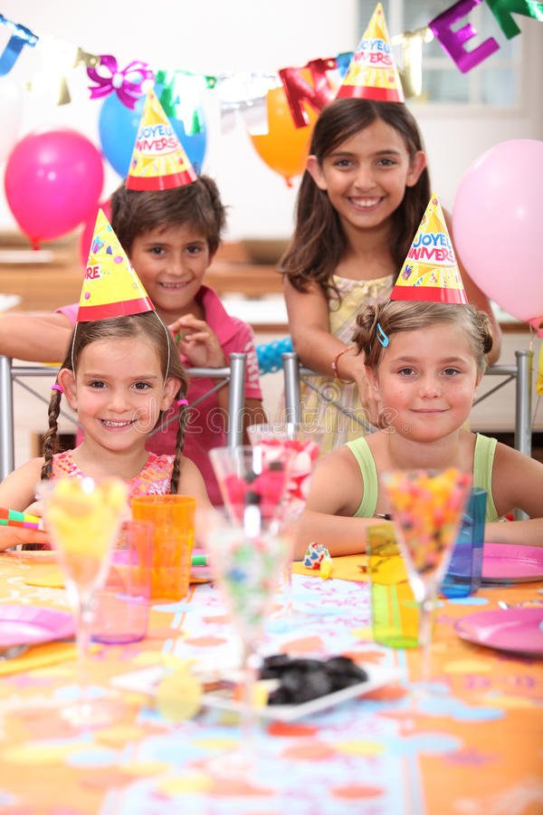 Birthday party stock images