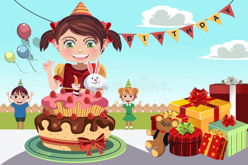 Birthday party royalty free illustration