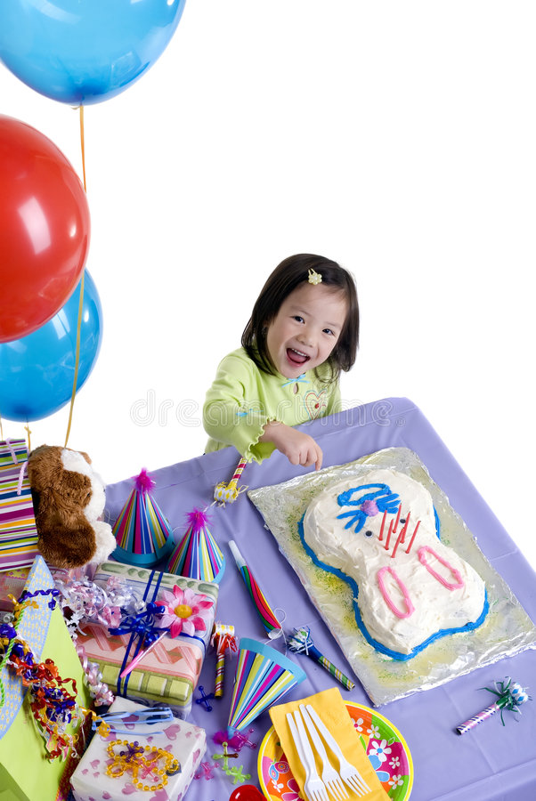 Birthday Party. The excitement of a birthday party, childhood, youth, sharing, friends stock image