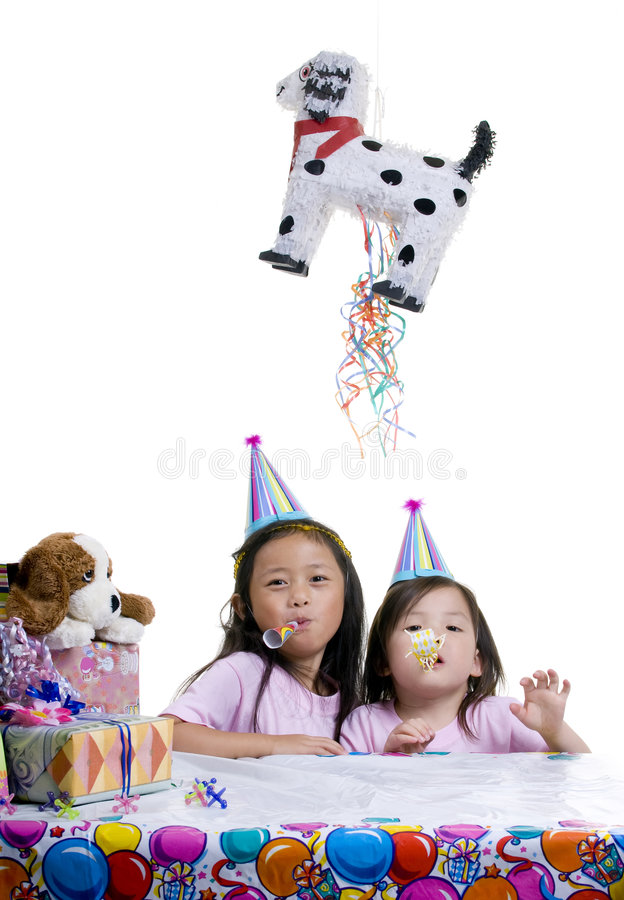 Birthday Party. The excitement of a birthday party, childhood, youth, sharing, friends royalty free stock photo