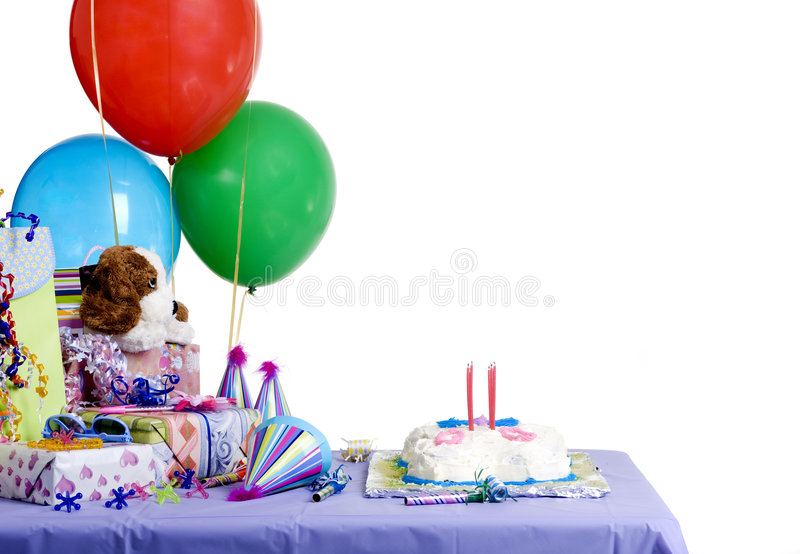 Birthday Party. The excitement of a birthday party, childhood, youth, sharing, friends stock images
