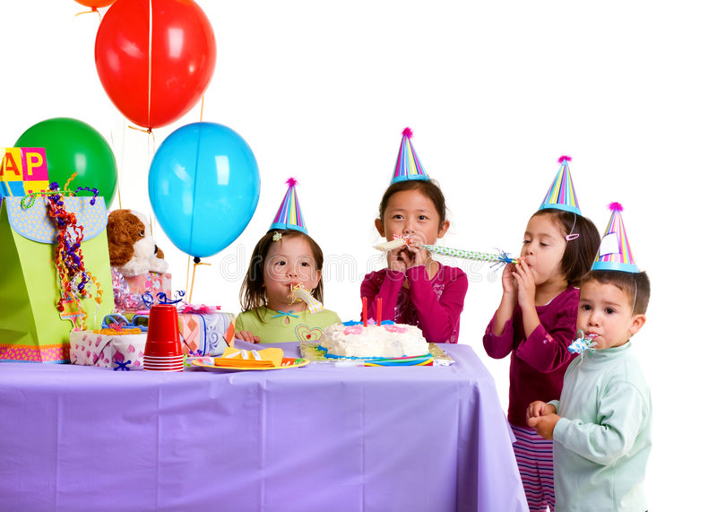 Download Birthday Party stock image. Image of party, presents, cups - 8837205