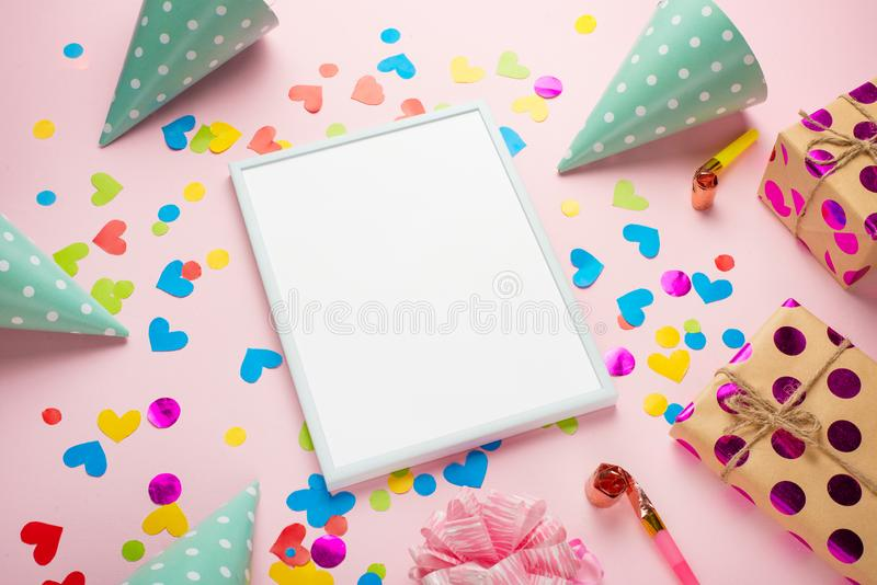 Birthday party background stock photography