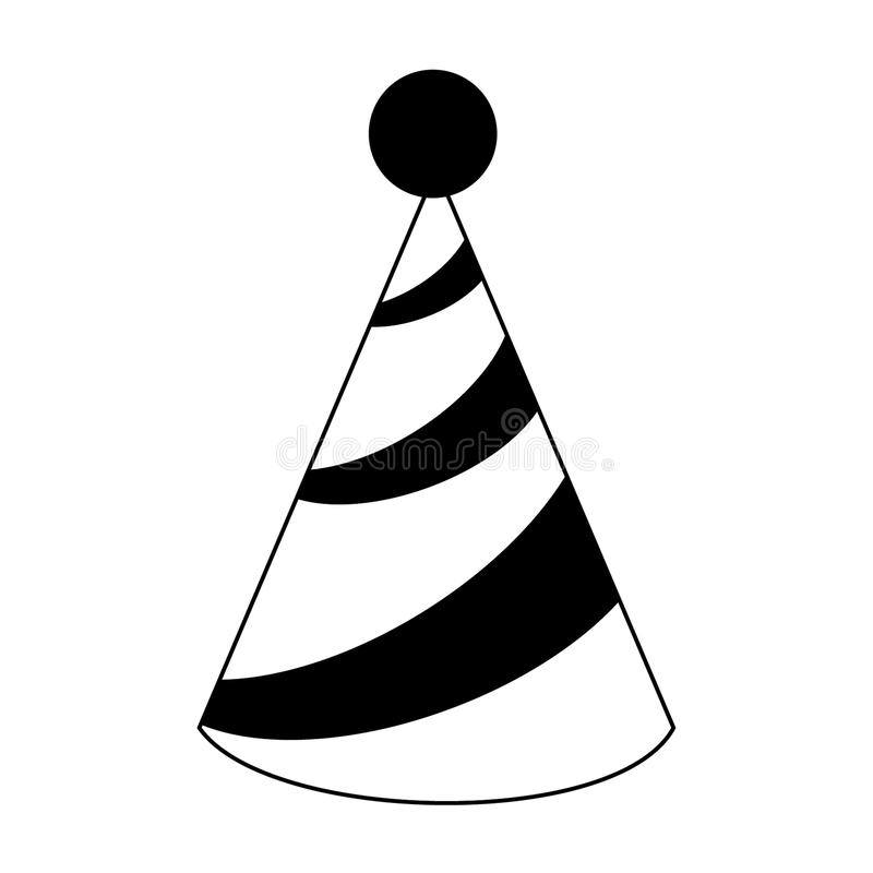 Party Hat Clipart Black And White - Draw A Birthday Hat, Cliparts &  Cartoons - Jing.fm