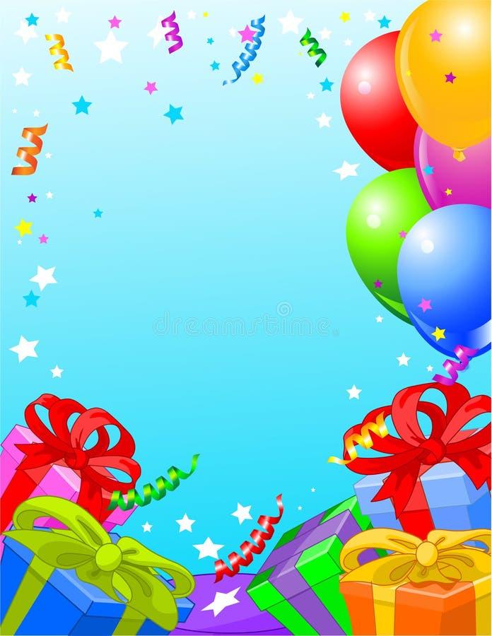 Birthday party card stock illustration