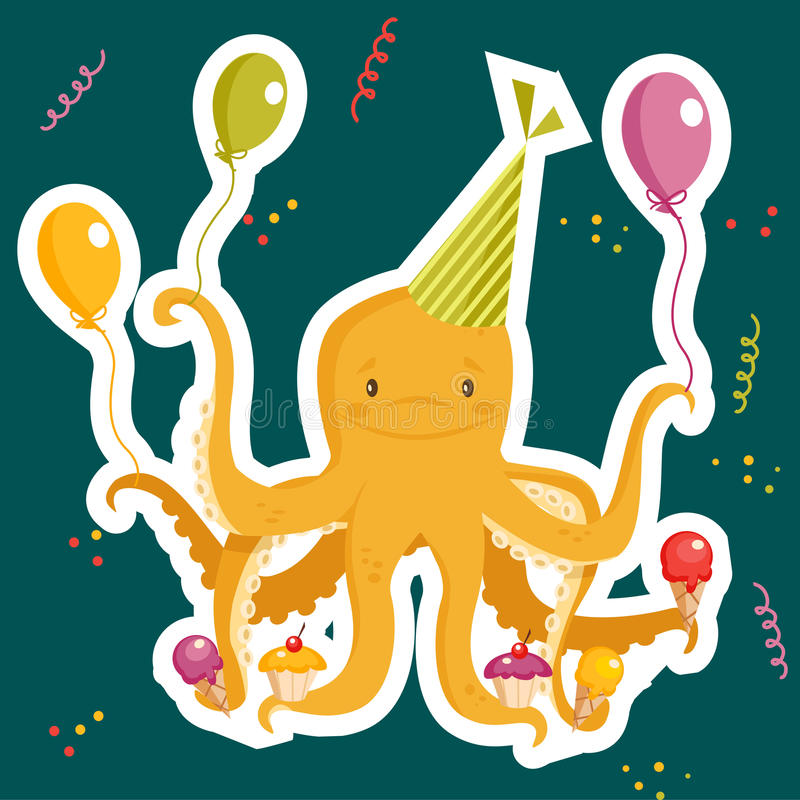 Download Birthday party card stock vector. Illustration of celebrate - 19777033