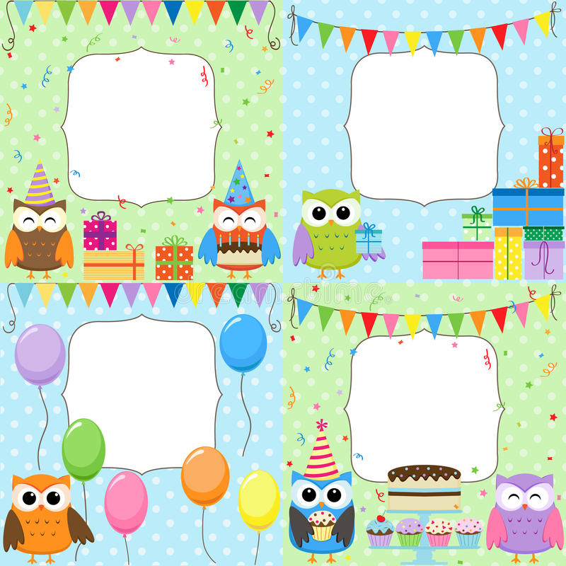 Birthday Party cards vector illustration