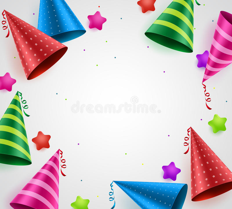 Birthday party celebration vector background with white empty space royalty free illustration