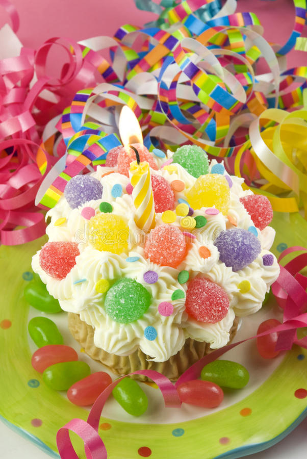 Birthday Party Cupcake stock photography
