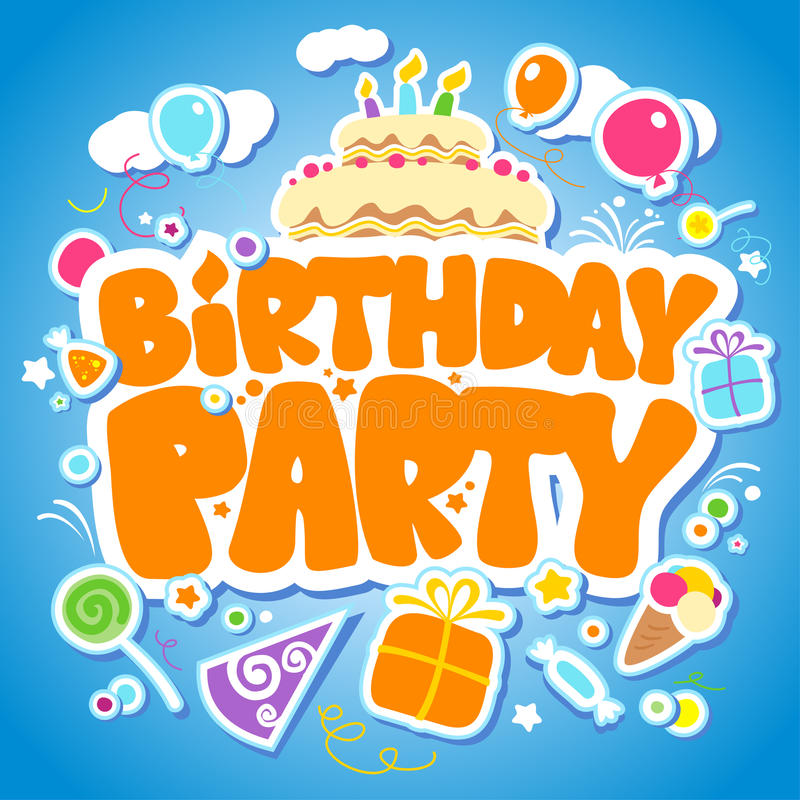Birthday Party design template. royalty free illustration