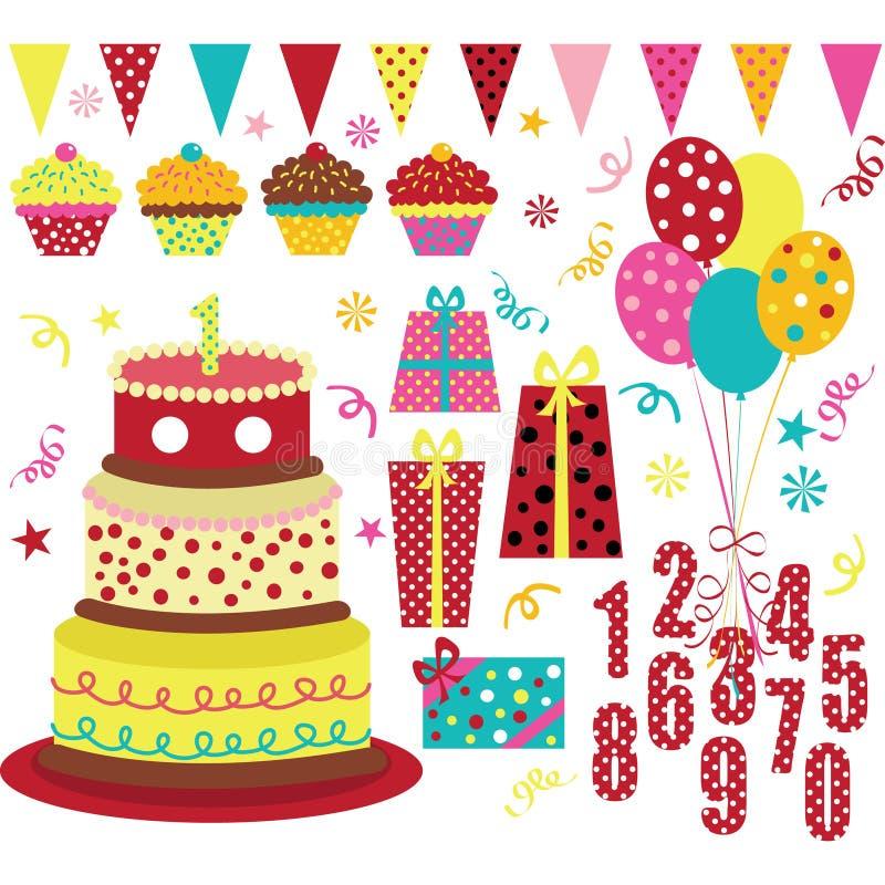Free Birthday Party Element Royalty Free Stock Photos - 68077548