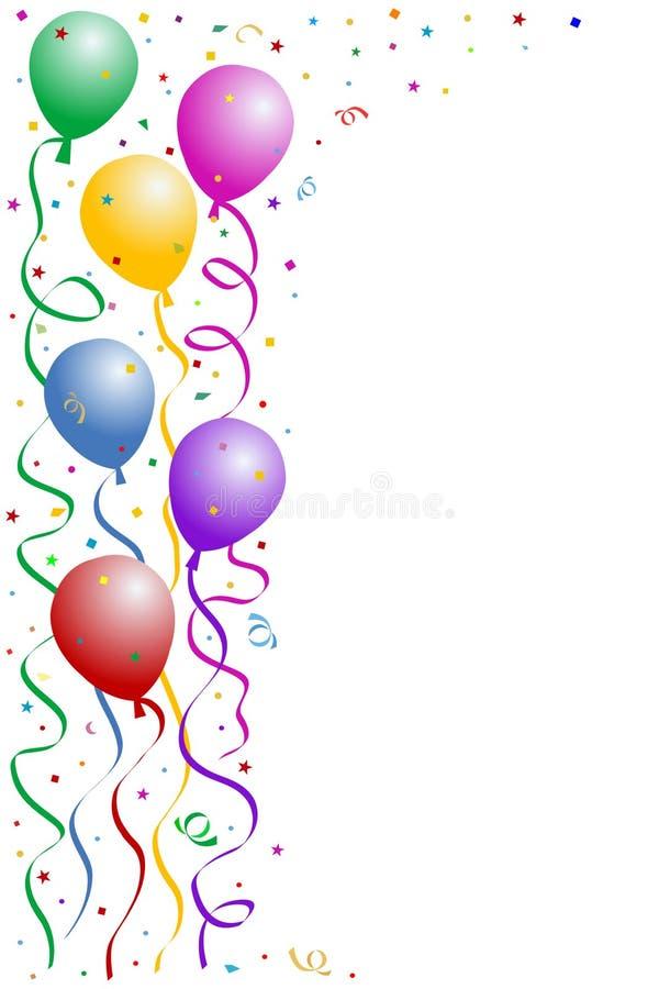 Birthday party frame stock illustration