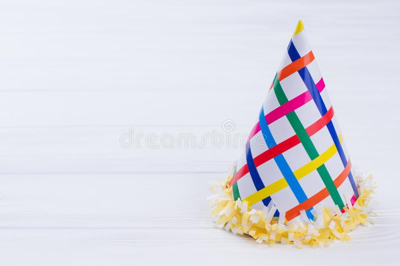 Birthday party hat for kid. stock image