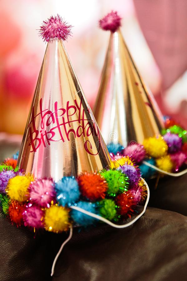 Download Birthday party hat set stock photo. Image of event, celebration - 107031892