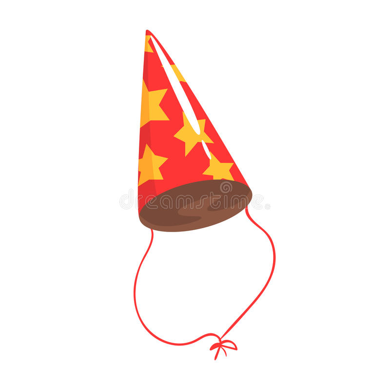 Birthday Party Hat With Yellow Stars Celebration Party Symbol