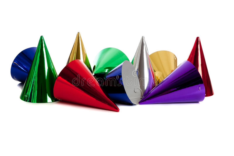 Birthday party hats stock image