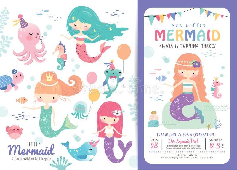 Birthday Party Invitation Card Template Stock Vector - Illustration ...