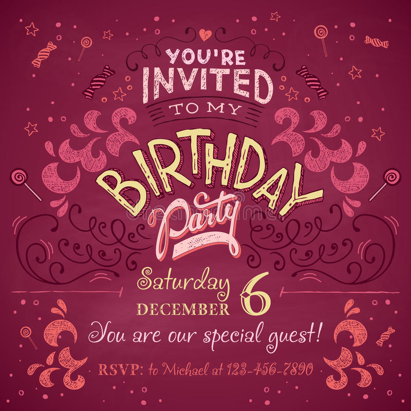 Birthday party invitation stock vector illustration of celebrate download birthday party invitation stock vector illustration of celebrate 47115452 stopboris Images