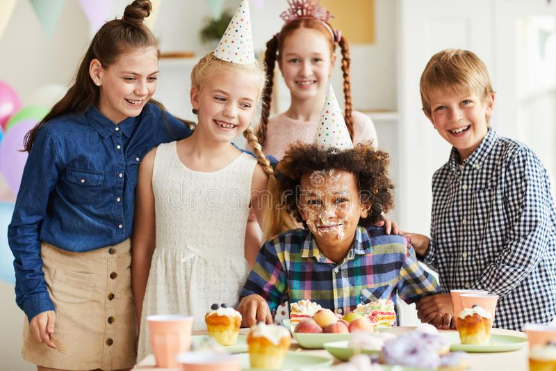 Birthday party Joke royalty free stock photo
