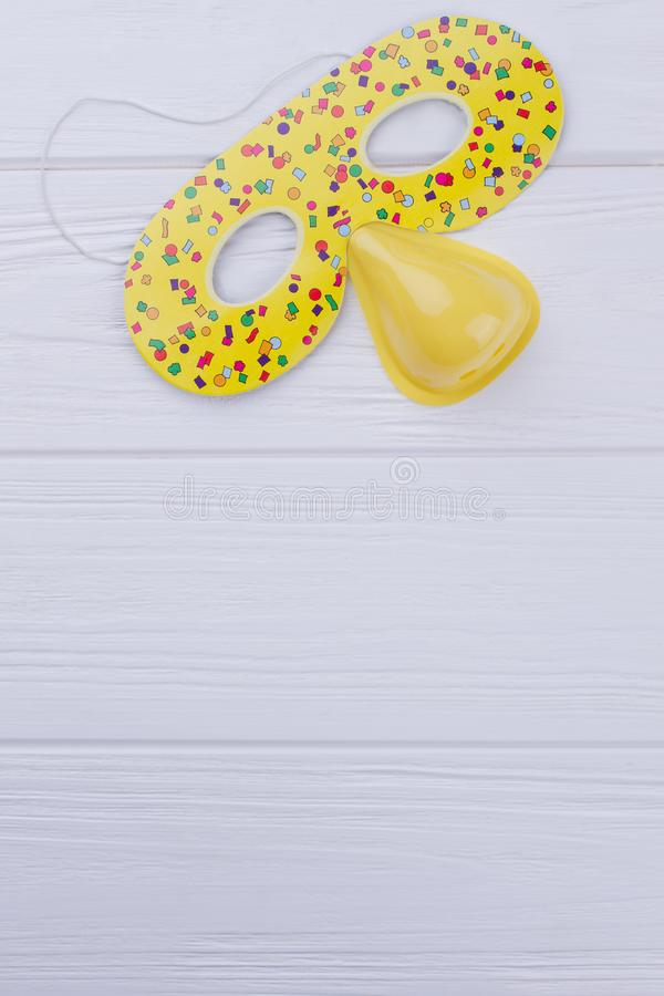 Birthday party mask for kids. royalty free stock photo