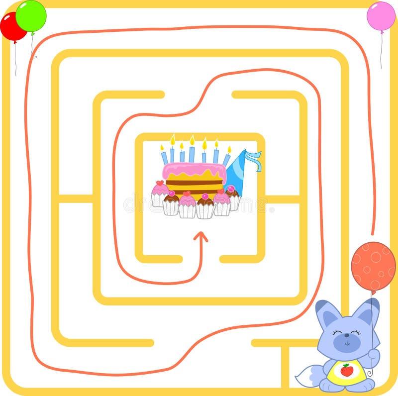 Birthday Party Maze Vector Royalty Free Stock Photos