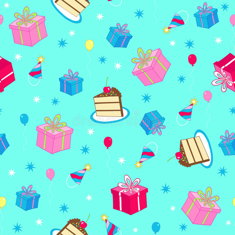 Download Birthday Party Seamless Repeat Pattern Vector Stock Vector - Image: 6857131