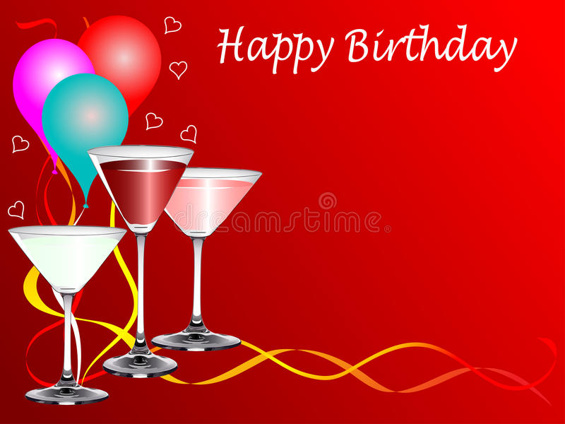 A birthday party template stock illustration