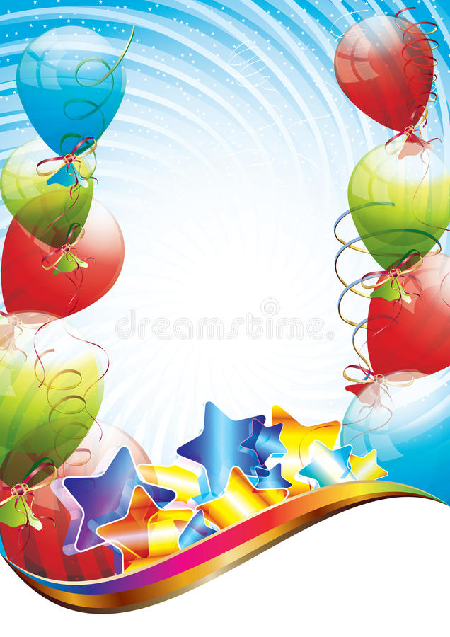 Birthday party template royalty free illustration