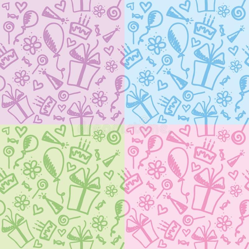Download Birthday patterns stock vector. Image of child, felt - 20423938