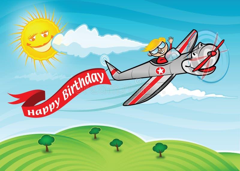 Birthday plane stock photography