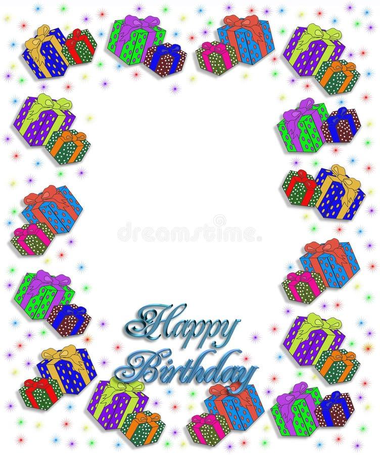 Birthday Presents Border illustration