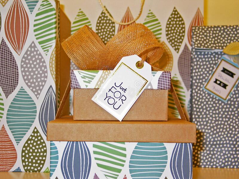 Birthday Presents With Bow And Tag Free Public Domain Cc0 Image