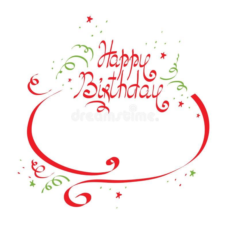 Birthday ribbons royalty free stock image