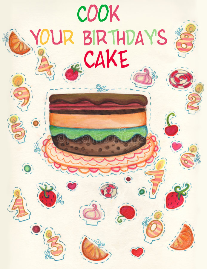 Download Birthday's game card stock illustration. Image of celebrating - 8717773