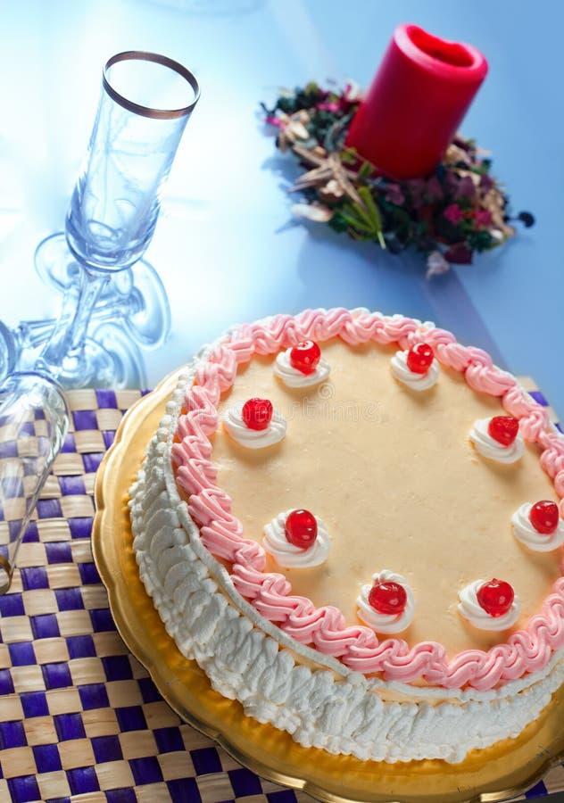 Download Birthday Strawberry And Cream Cake Stock Photo - Image: 12805120