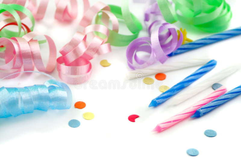 Birthday supplies royalty free stock photography